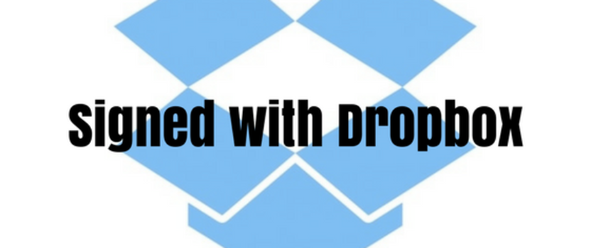 Signed with Dropbox!